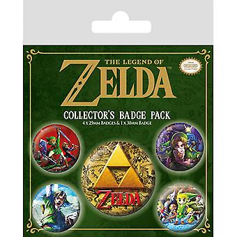 Zelda Classics Pin Button Badges Set