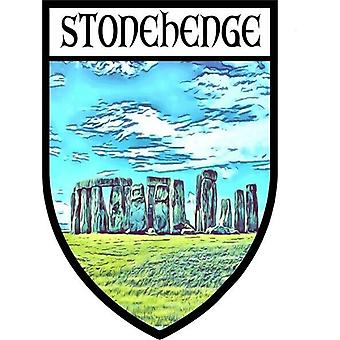 Sticker sticker vinyl coat of arms souvenir stonehenge angleterre