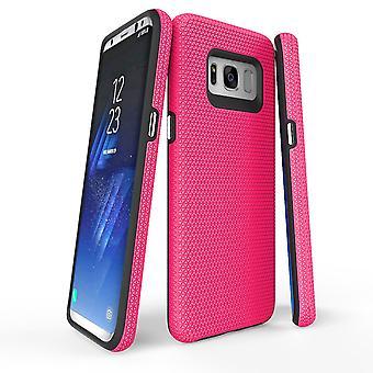 Für Samsung Galaxy S8 Fall, rosa Rüstung Schützend langlebig eisern schlank Telefon Abdeckung