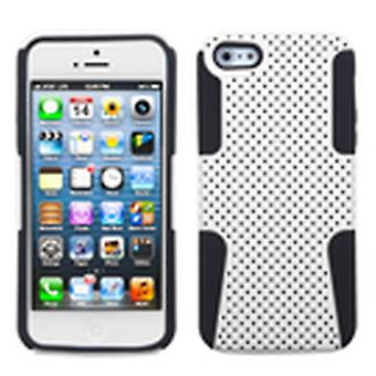 Asmyna Astronoot Phone Protector Case for Apple iPhone 5s/5 - White/Black