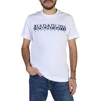 Man cotton short t-shirt round t-shirt top n13975