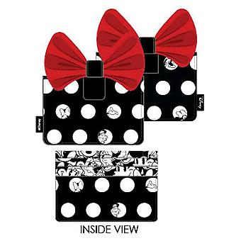 Mickey Mouse Minnie Big Red Bow Card Holder