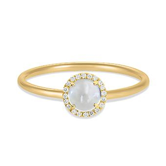 Ring Luna 18K Gold and Diamonds - Yellow Gold