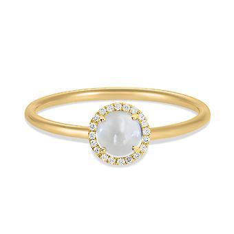 Pierścień Luna 18K Złoto i Diamenty