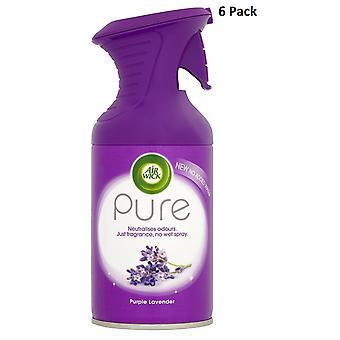 6 x 250Ml Air Wick czystego powietrza Freshner Spray - fioletowy lawendy