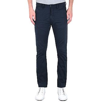 Nudie Jeans Slim Adam Dark Midnight Cotton Twill Trousers