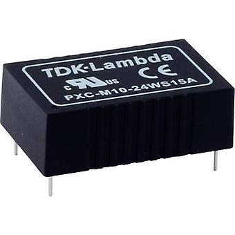 TDK-Lambda PXC-M10-24WS-15 DC/DC-muunnin (tulostus) 15 V 670 mA