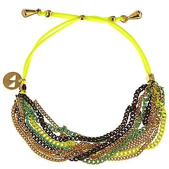Bracelet E14B04 dor� Jaune fluo