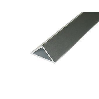 Jandei Profilo Alluminio Led Striscia 2 Metri Isoscele triangolari 16,3 x 11.3 45o