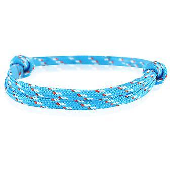 Patrón pulsera surfer banda nodo maritimes pulsera nylon azul/rojo/gris 6745