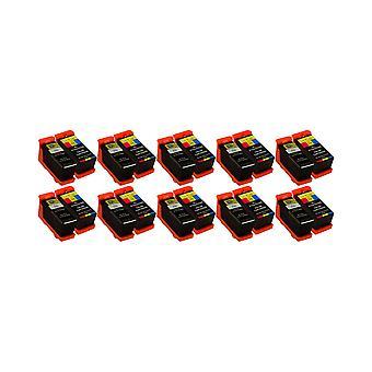 تعيين ديل X768N X769N روديتووس 10 x استبدال الحبر الأسود وحدة & ثلاثية الألوان متوافق مع P513W، V313، V313W، P713W، V715W، V515W