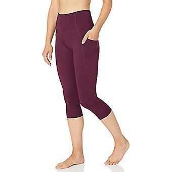 Brand -Core 10 Women's All Day Comfort High Waist Yoga, Fig, Size Medium