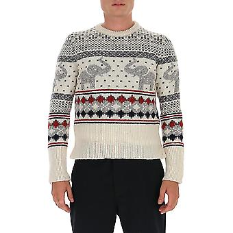 Thom Browne Mka311a00278100 Men's Multicolor Wool Sweater