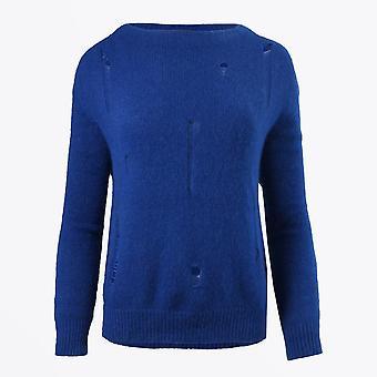 Eva Kayan - Pull en tricot laddered - Bleu