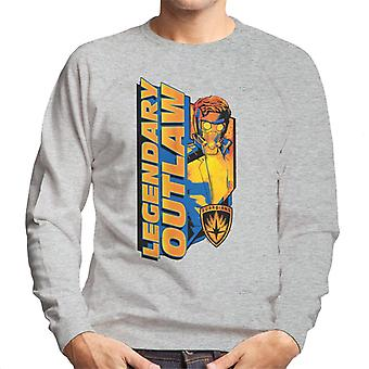 Marvel Guardians Of The Galaxy Legendary Outlaw Star Lord Men's Sweatshirt