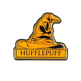 Harry Potter Pin Badge Hufflepuff Sorting Hat Hogwarts new Official Yellow Metal