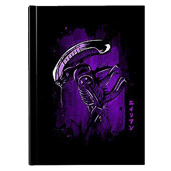 Alien Left Side Profile Purple Hardback Journal