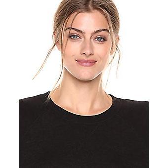Brand - Daily Ritual Women's Cozy Knit Raglan Sweatshirt Dress, Black,Large