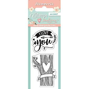 Stamperia I Love You Clear Stamps