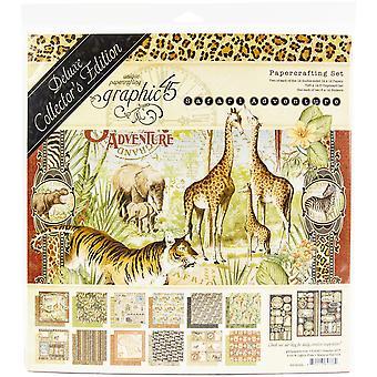 Graphic 45 Safari Adventure 12x12 Inch Deluxe Collector's Edition
