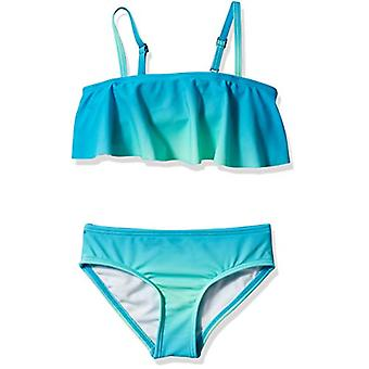 Kanu Surf Big Girls' Karlie Flounce Bikini Beach Sport 2-Piece Swimsuit, Lill...