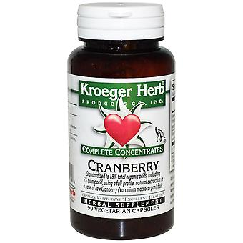 Kroeger Herb Co, Complete Concentrates, Cranberry, 90 Vegetarian Capsules