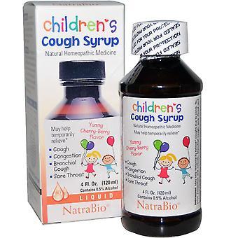 NatraBio, Children's Cough Syrup, Yummy Cherry-Berry Flavor, 4 fl oz (120 ml)