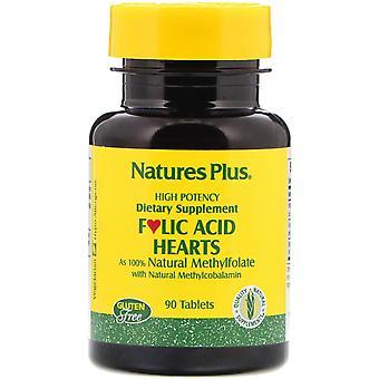 Nature's Plus, Folsyrahjärtan, 90 tabletter