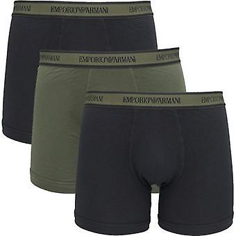 אמפוריו ארמני 3 חבילת לוגו רצועת מותן בוקסר מכנסיים קצרים