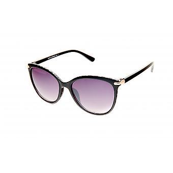 Gafas de sol Panto negro para mujer con impresión/violeta (20-052)