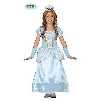 Prinsessa kostym klä drottningen barn kostym flickor prinsessa kostym blå