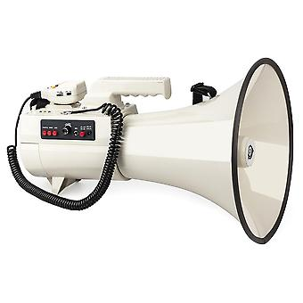 Super High Power 75w Megaphone 2km Amplified Multi-function Speaker (white)