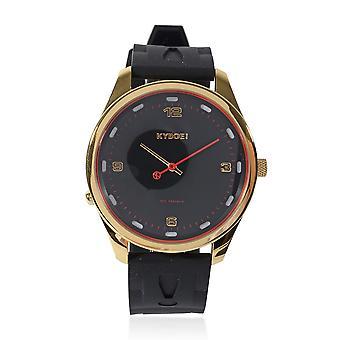 KYBOE Evolve Black Gold Slimline 45MM LED Mens Watch 100M Water Resistance Strap