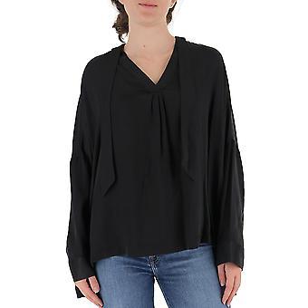 L'autre Koos B1520643004u999 Women's Black Polyester Blouse