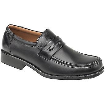 Amblers hombres's manchester mocasin negro 11532