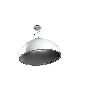 3 Light Small Dome Ceiling Pendentif Argent, Blanc, E14