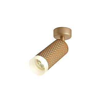 Luminosa Beleuchtung - 1 Licht Oberfläche montiert Scheinwerfer GU10, Champagner Gold, Acryl-Ring