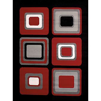 """63"""" x 86"""" Red Polypropyelene Area Rug"""