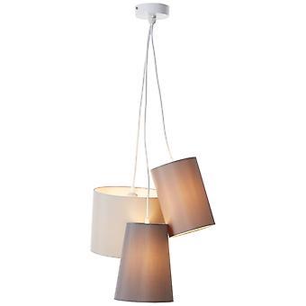 BRILLIANT Lampe Trial Vedhæng Lampe 3flg Grå   3x A60, E27, 40W, egnet til normale lamper (ikke inkluderet)   Skaler A++