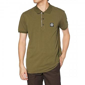 Diesel T-Harry Zip Collar Khaki Green Polo