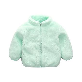Baby Long Sleeve Zipper Winter Clothes, Cappotto in velluto solido