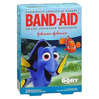 Band-Aid Brand Adhesive Bandages Finding Dory Assorted Sizes, 20 Each