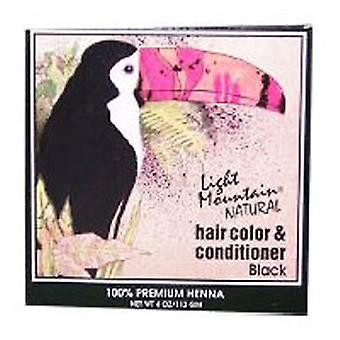 Light Mountain Natural Hair Color and Conditioner, Black 4 Oz