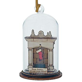 Kloche by Millbrook Gifts Santa Please Stop Here Hanging Ornament