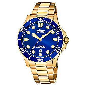 Lotus Men's Gold Plated Steel Bracelet | Blue Dial L18761/1 Watch