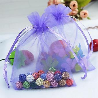 10pcs Organza مجوهرات حقيبة التعبئة والتغليف، حفل زفاف تفضل حقيبة رسم
