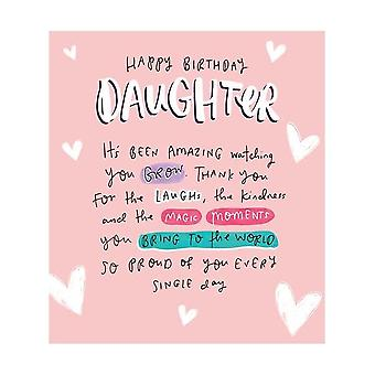 Pigment The Happy News Watching You Grow Daughter Birthday Card
