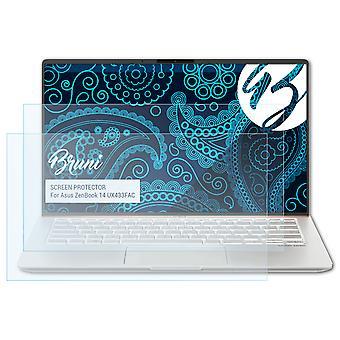بروني 2x حامي الشاشة متوافق مع Asus ZenBook 14 UX433FAC واقية فيلم