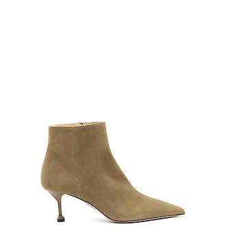 Prada Ezbc021035 Women's Beige Suede Ankle Boots