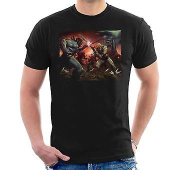 Masters Of The Universe Skeletor Vs He Man Cinematic Shot Men's T-Shirt